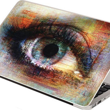 Stickers Macbook Decal Skin Macbook Air Skin Pro Skins Retina Cover Eye Color paint Picture Christmas Gift New Year ( rm18)