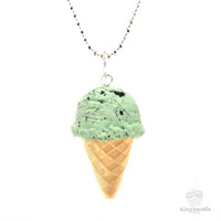 Scented Mint Chocolate Chip Ice-Cream Necklace
