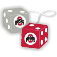 Ohio State Buckeyes NCAA 3 Car Fuzzy Dice
