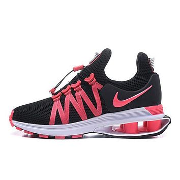 Nike Shox Gravity High Quality Trending Woman Men Stylish Sport Running Shoes Sneakers Black/Rose Red