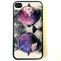Galaxy Hipster Cat Case - For Iphone 4 4s 4g - Designer TPU Case Verizon At&t Sprint