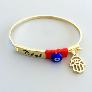 Protection & Good Luck Hamsa Bangle