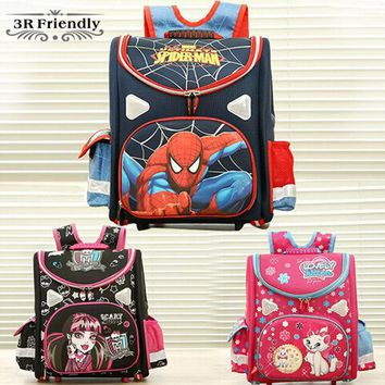 VONE2B5 hot 21model choose Kids Backpack Butterfly monster high orthopedic school bag EVA Schoolbag Children School Bags for boy andgirl