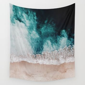 Ocean (Drone Photography) Wall Tapestry by Lostfog Co↟
