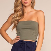 Alera Tube Crop Top - Olive