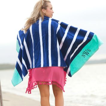 Monogram Beach Towel Available in Five Colors