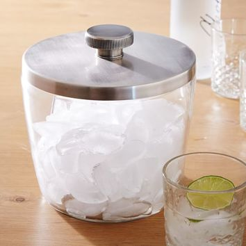 Sculpted Metal Ice Bucket