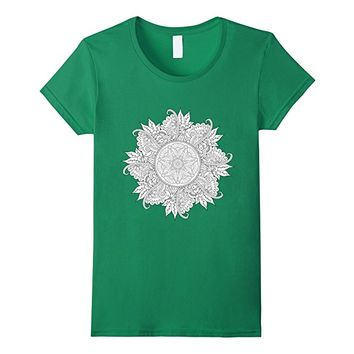 Color Me Floral Mandala Circle t-shirt