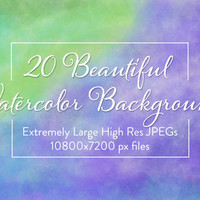 20 Beautiful Watercolor Backgrounds