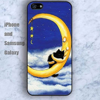 Dream moon stars iPhone 5/5S Ipod touch Silicone Rubber Case Phone cover Waterproof
