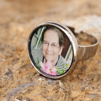 Photo Jewelry / Photo Ring /  Custom Photo Ring / Stainless Steel Ring / Picture Jewelry / Picture Ring / Mother's Ring / Grandmother Ring