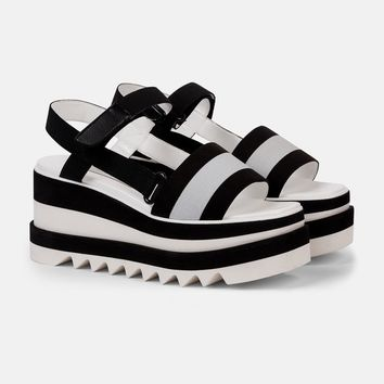 Striped Platform Slides - Stella Mccartney