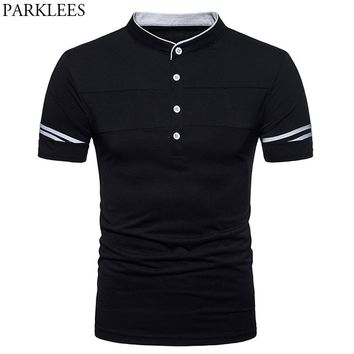 Men's Hipster Classic Henley Shirt 2018 Brand New Slim Fit Short Sleeve Polo Shirt Men Casual Summer Tops Camisa Polo Masculina