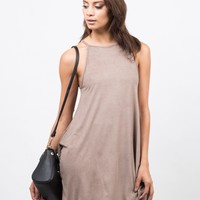 Suede Swing Dress