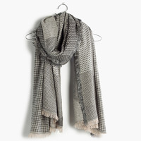 Houndstooth Patchwork Scarf