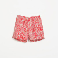PAISLEY PRINT SWIMMING SHORTS