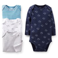 4-Pack Long-Sleeve Bodysuits