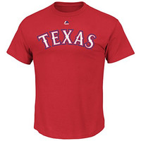 Prince Fielder #84 Texas Rangers MLB Men's Name & Number Player T-Shirt Red (Small)