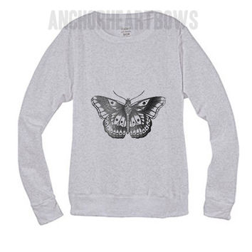 Harry Styles Butterfly Tattoo One Direction Crewneck Sweatshirt #81