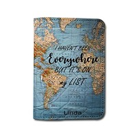 Travel Inspiration [Name Customized] Travel Leather Passport Holder - Passport Protector - Passport Cover - Passport Wallet_SUPERTRAMPshop (PPVA331)