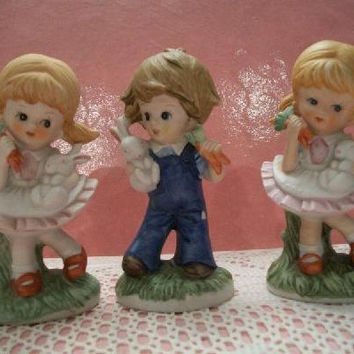 vintage Homco children figurines