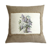 Lilac Bouquet Cushion