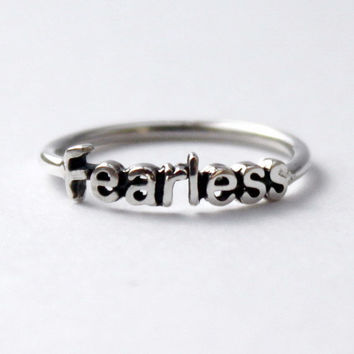 Fearless Ring  925 Sterling silver ring with by HeartCoreDesign