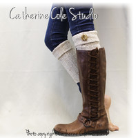ASPEN  boot cuffs - natural flecks
