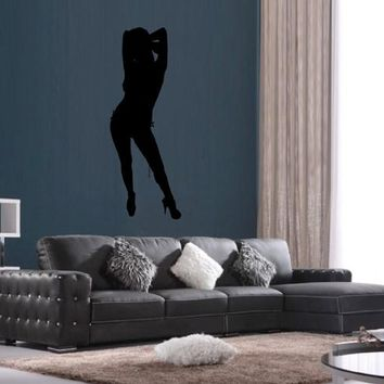ik2241 Wall Decal Sticker sexy girl dancer dance hall bedroom