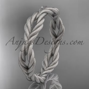 Platinum twisted rope matte finish wedding band RP8117G