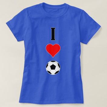 "Cute ""I Heart (Love) Soccer"" Women's T-shirt"