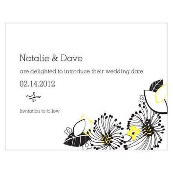 Floral Fusion Save The Date Card Harvest Gold (Pack of 1)