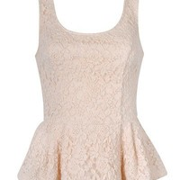 PEPLUM TOP IN LACE