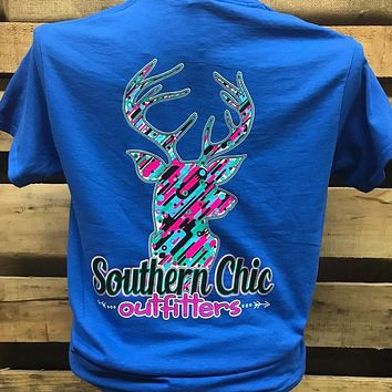 SALE Southern Chics Deer Pattern Country Girlie Bright T Shirt