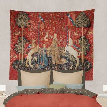 Lady with Unicorn - Taste - Tapestry (Printed)