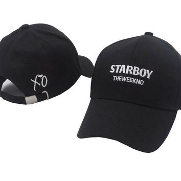 Trendy Winter Jacket 100% Cotton The Weeknd Starboy Hats and Stargirl Hats XO Dad Hat Baseball Caps Snapback Hip Hop Caps Men and Women Summer AT_92_12