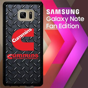 Cummins Turbo Diesel Logo Z3883 Samsung Galaxy Note FE Fan Edition Case