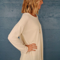 Mountain Peak Sweater Top Ivory