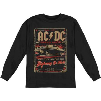 AC/DC Men's  ACDC Speed Shop  Long Sleeve Black