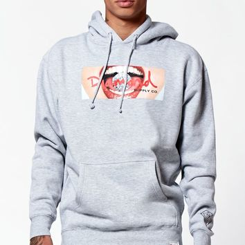 Diamond Supply Co Bite This Hoodie - Mens Hoodie - Grey