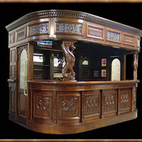 Home Pub Bar or Covered Tavern Bar with  GIANT GRIFFIN carvings : Bars Cigars and Brew