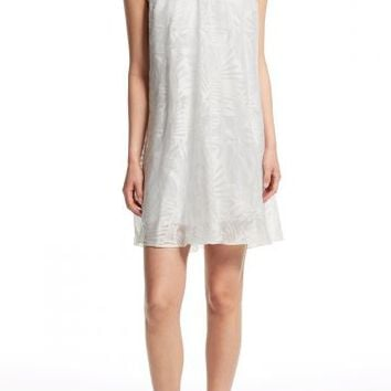 Selah Palm Leaf Burnout Cotton Blend Dress | Calypso St. Barth