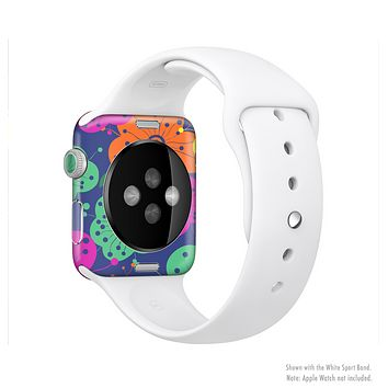 The Bright Colored Cartoon Flowers Full-Body Skin Kit for the Apple Watch