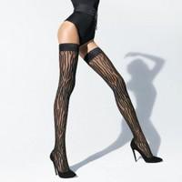 Buy Wolford Luxury Lingerie - Wolford Wilderness Stay-up  | Journelle Fine Lingerie