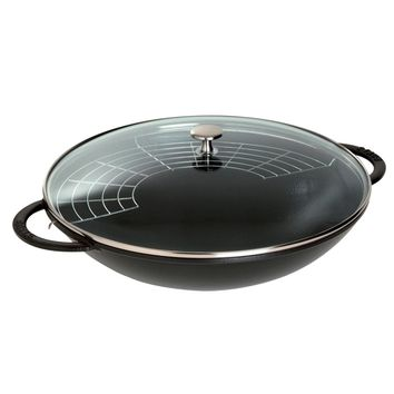 Staub Cast Iron 6-qt Wok - Matte Black (Size: 6-qt, Color: Black Matte)