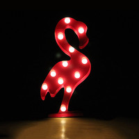 LED marquee light Chic Flamingo Decoration Lamps Nightlight home and party decoration
