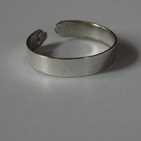 Simple Adjustable Toe Ring Band 925 Sterling Mexican Silver Unisex Stacking Expandable