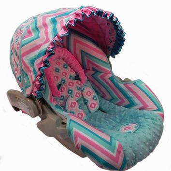 Ryleigh Ikat Car Seat Cover