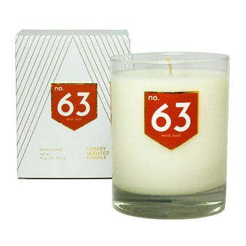 No. 63 Neroli Basil Scented Soy Candle