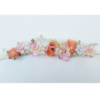 Custom Flower Crown * Handmade Floral Headpiece